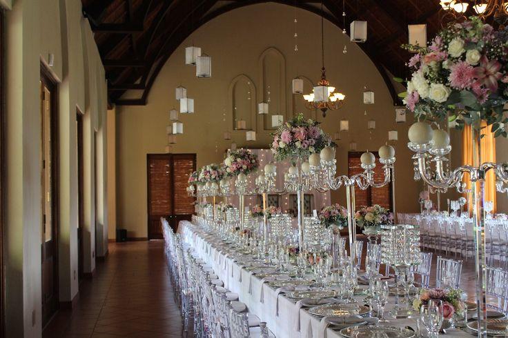 Banquet crystal decor