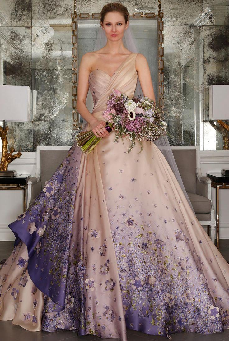 Lavender Ball Gown Wedding Dress_Wedding Dresses_dressesss