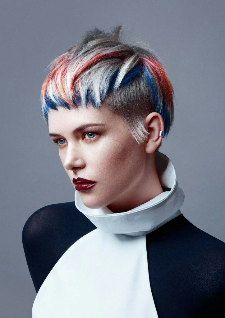 349 Best Artistic Hair Styles And Coloring Images On Pinterest Pixie Haircuts Short Hairstyle