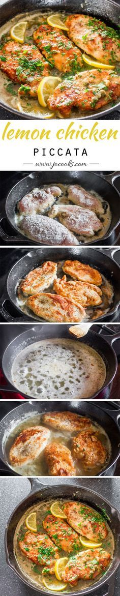 Lemon Chicken Piccata – a simple yet super impressive chicken piccata in a tasty lemon, butter and capers sauce.