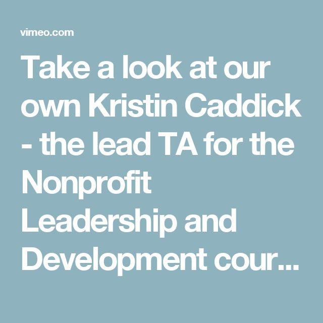 Take a look at our own Kristin Caddick - the lead TA for the Nonprofit Leadership and Development course - and her Summer Fellowship work with the Jamie Kirk Hahn Foundation! She is working with Raleigh City Farm to engage the community in urban agriculture through film, fundraising for their new pavilion, and strategic planning. Congrats, Kristin!