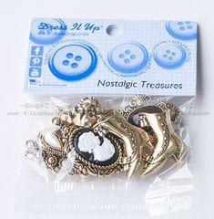 Платье It Up руки маленьких кнопок формы сердца телефона оболочка украшение 184 старинных сокровища