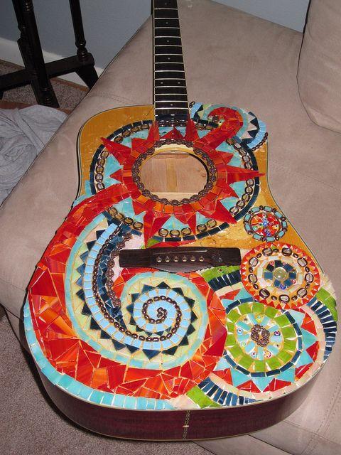 Colorful #mosaic #guitar