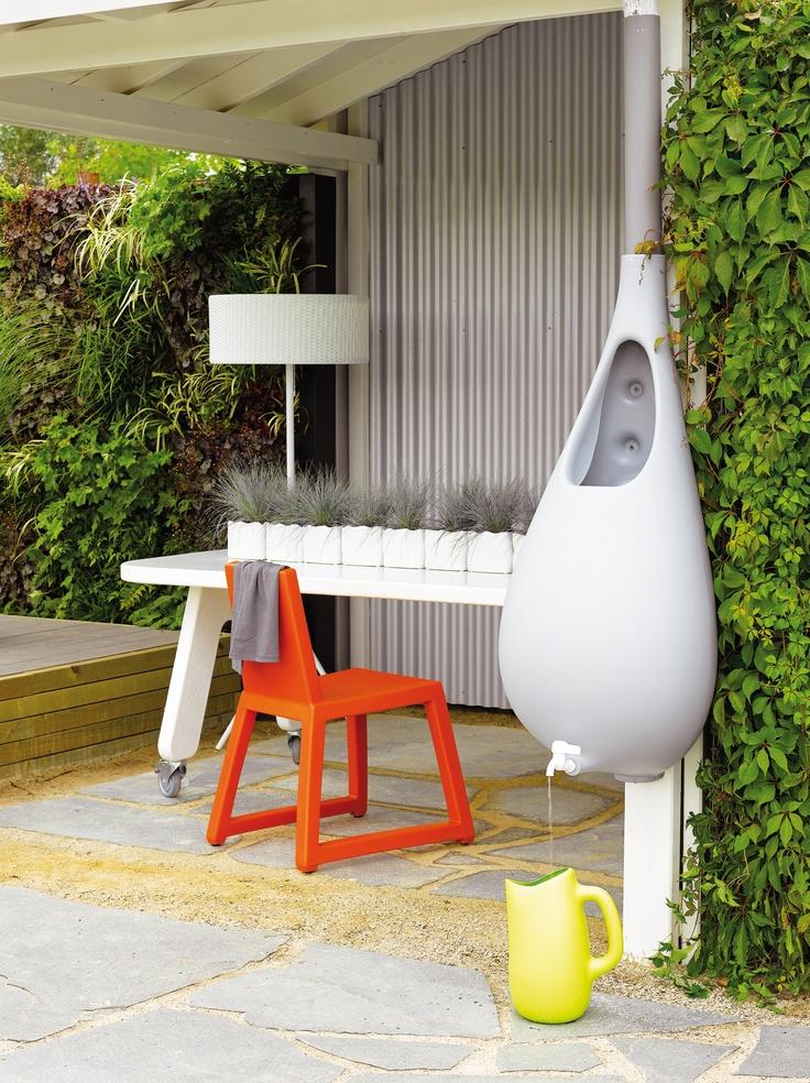 Design regenton met ingebouwde gieter tuin pinterest met and design - Kleine tuin zen buiten ...