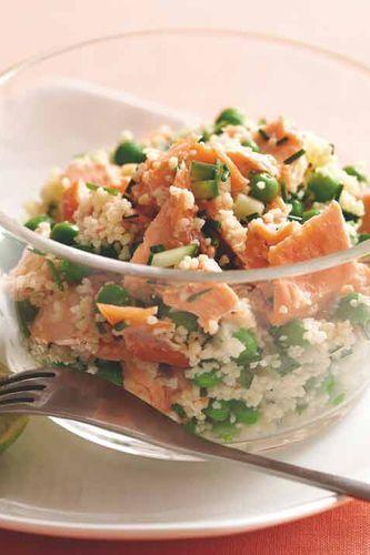 Les recettes du régime satiété du Dr Cohen - Taboulé au saumon et aux petits…