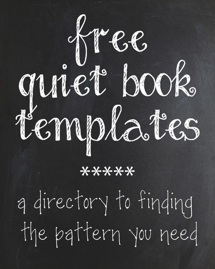 The Quiet Book Blog: The Quiet Book Pattern Directory @Kali Kerr Kerr Everton Romney