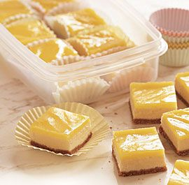 lemon cheesecake squares.