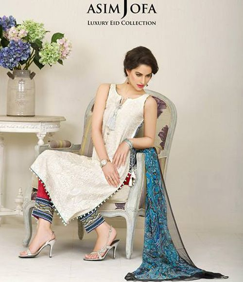 Asim Jofa Luxury Lawn Eid Collection 2015 AJL_5B