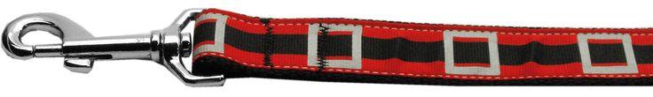 Santa Belt Nylon Ribbon Dog Leash