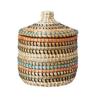 Förvaringskorg Bennet, Ø 19 cm, H:22 cm med lock, - Heminredning - Hemtextil - Hemtex
