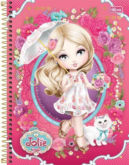 Caderno Espiral Universitário 1 Matéria Jolie 96 folhas