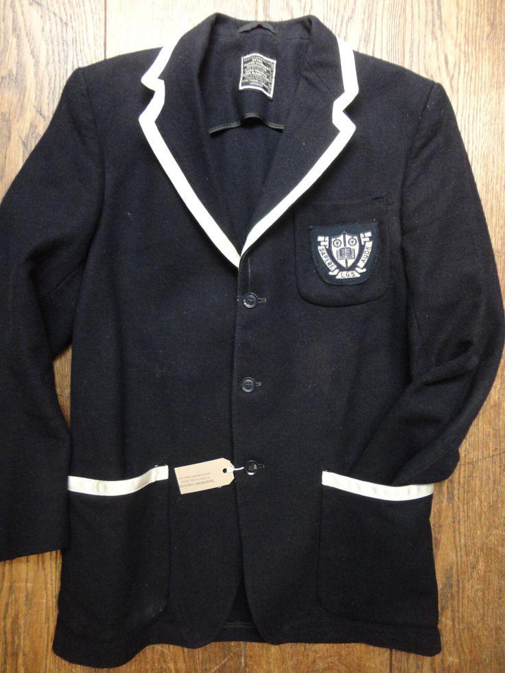 "Vintage 1960s 1970s midnight dark blue English British grammar school blazer jacket 40"" chest small The Prisoner mod Ivy League style by TheDustbowlVintage on Etsy https://www.etsy.com/listing/271436650/vintage-1960s-1970s-midnight-dark-blue"