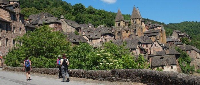 L'abbatiale Sainte-Foy de Conques, sur la Route du Puy-en-Velay en direction de Compostelle
