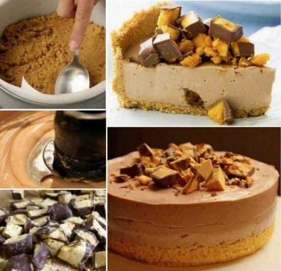 Choc Honeycomb Cheesecake
