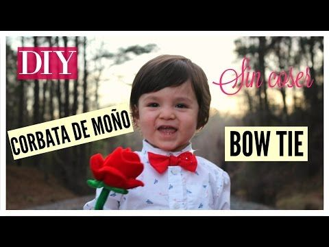 DIY|como hacer un corbatin o moño|how to make a kid's bow tie|Reishelsyp - YouTube