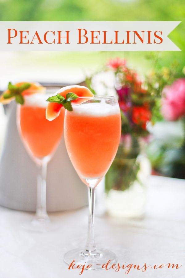 25 best ideas about peach bellini recipe on pinterest for Easy alcoholic mixed drinks