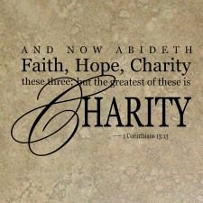 1 Corinthians 13:13 AND NOW ABIDETH Faith, Hope, Charity.. - Vinyl Wall Art