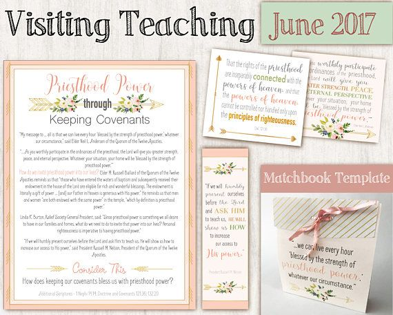 $2.92, June 2017 Visiting Teaching Message  Relief Society