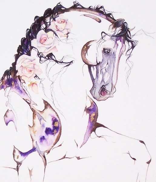 horse watercolour - Google Search
