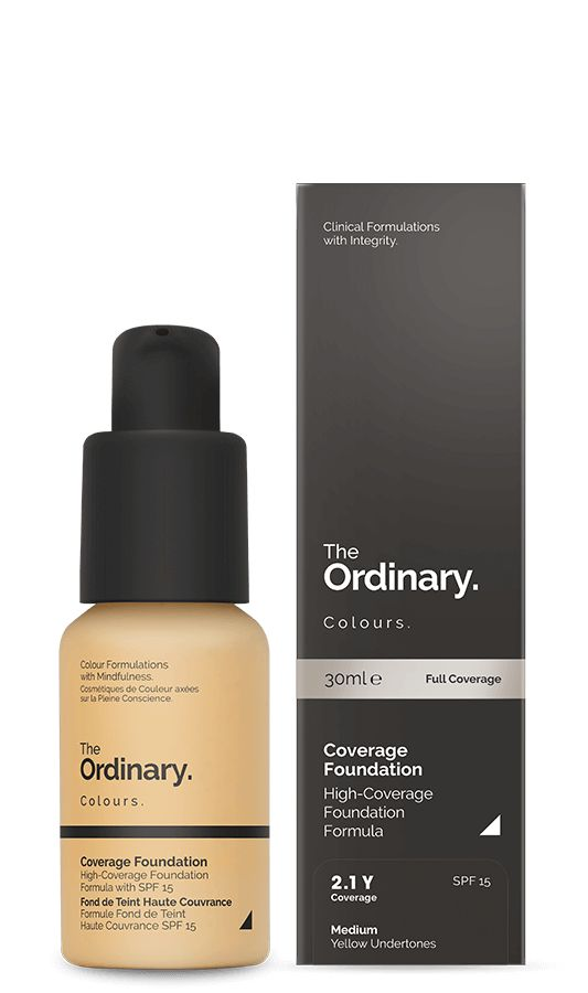 One of the products I ordered from The Ordinary a few weeks ago & I'm absolutely loving it   Coverage Foundation (2.1 Y) SPF - 30ml