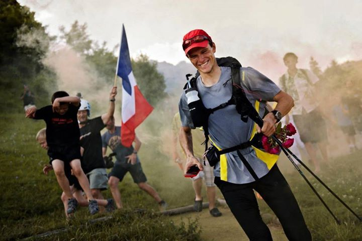 Clement Latour on his way to second place receives a hero's welcome in France.