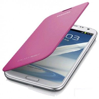 Estuche Samsung Galaxy Note 2 Original Flip Cover - Rosa