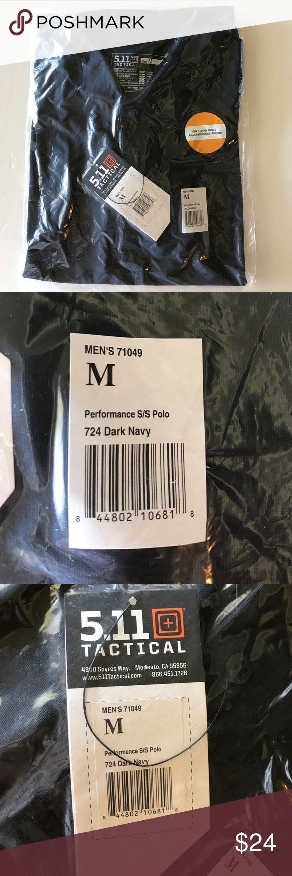 Tactical uniform polo dark navy Short sleeve uniform polo , pen pocket, performance polo 5.11 Tactical Shirts Polos