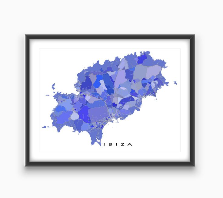 Ibiza Spain / Ibiza Map Print / Island Art Prints by MapsAsArt on Etsy