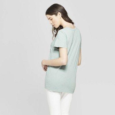 d3e3a6e93b Women's Short Sleeve V-Neck T-Shirt - Universal Thread Green Xxl ...
