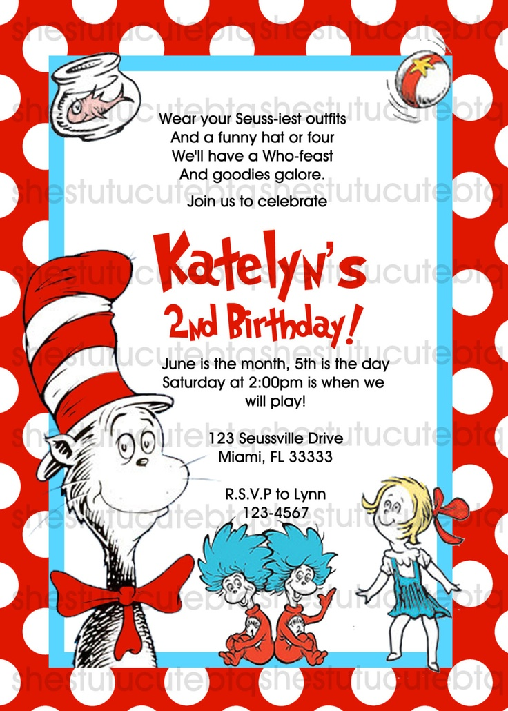 90 best Cat in the hat birthday ideas images on Pinterest ...