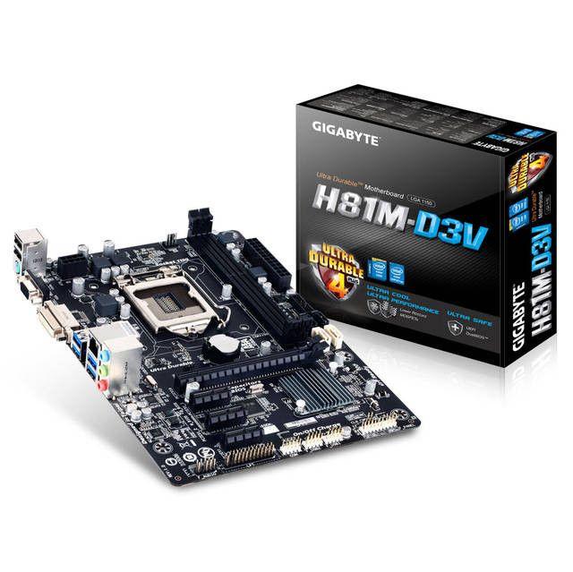 GIGABYTE GA-H81M-D3V LGA1150/ Intel H81/ DDR3/ SATA3&USB3.0/ A&GbE/ MicroATX Motherboard