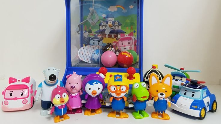 Pororo and Robocar Poli Clane Play Toy & 뽀로로 로보카폴리 뽑기