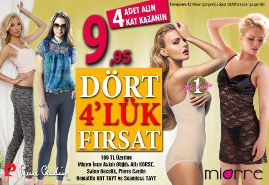 DÖRT DÖRTLÜK FIRSAT ! - http://www.pierecardin.net/dort-dortluk-firsat/