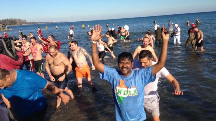 Hundreds of participants braved the cold on New Year's Day for Polar Bear Dips in Oakville and Toronto.  More than 500 people came out for the annual plunge at Toronto's Sunnyside Beach. The winter-weather event has raised nearly $370,000 for Habitat for Humanity since 2005.