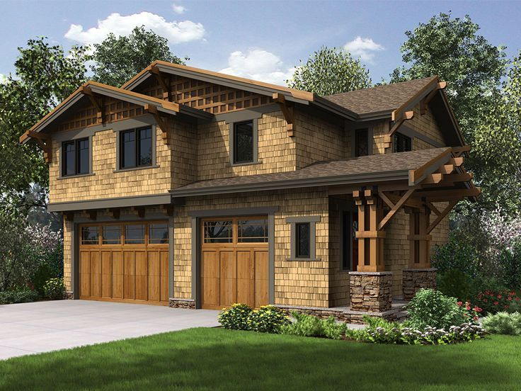 035G 0023: Three Car Garage Apartment Plan Offers Boat Storage