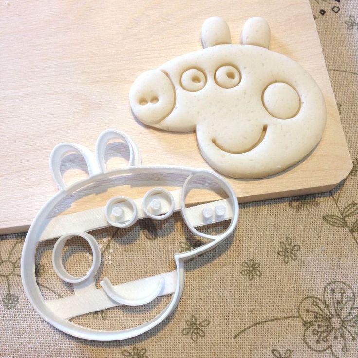 Peppa Pig Cookie Cutter - Fondant Icing Cake Cupcake Topper Baby Shower Birthday in Home & Garden, Kitchen, Dining, Bar, Bakeware | eBay