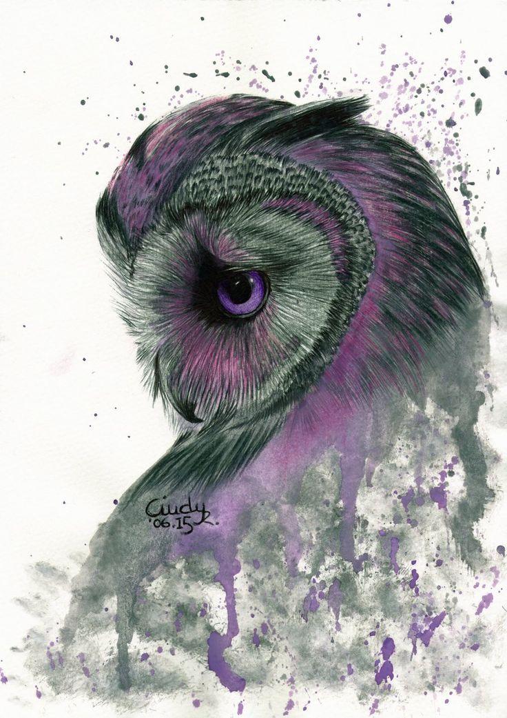 Purple Owl by Cindy-R.deviantart.com on @DeviantArt