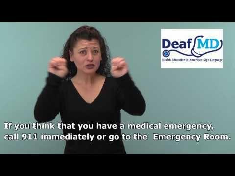 DeafMD.org- Descriptions of illnesses, medical tests, and Deaf friendly doctors ALL ON VIDEO IN ASL