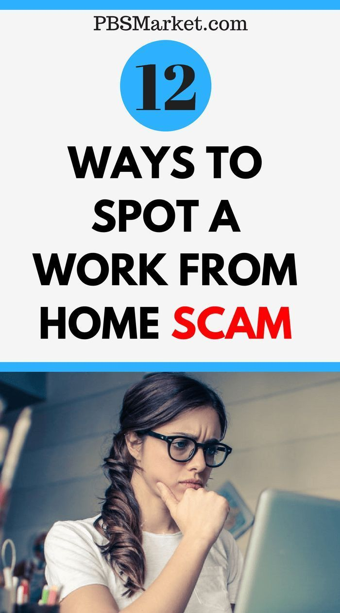 12 Ways to Spot a Work From Home Scam – #Home #sca…
