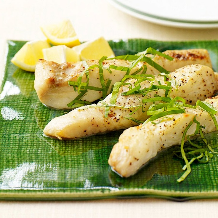 Easy Halibut Fillets with Herb Butter. I used chopped parsley and it was lovely.