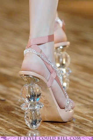 crazy shoes - glass - heels - Tread Lightly