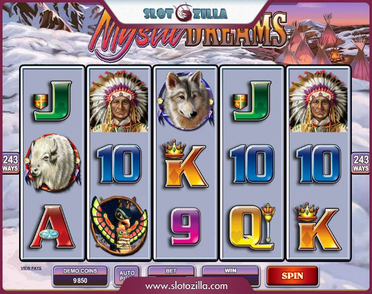 Play a cool Native-themed video free slot!   Mystic Dreams is all about North Native American customs and cultures. You'll learn more about shamans, totems, rituals and animals that were considered to be the patrons of the ancient tribes. You will surely enjoy playing Mystic Dreams.