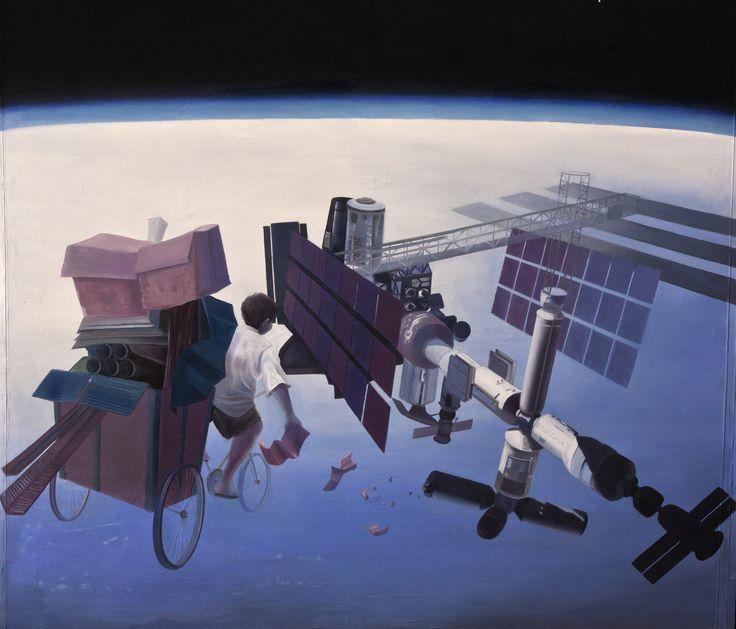 """""""Cartonero espacial"""" Oleo sobre lienzo Dimensiones: 160cm x 140cm (2011)"""