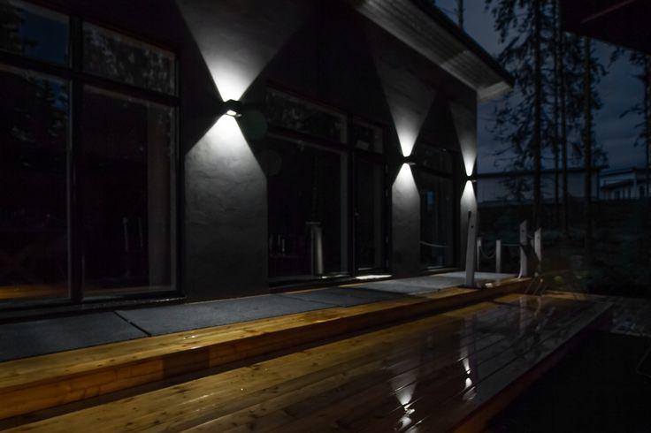 Villa Kuusikko's facade lighting with Hydra LED luminaires.