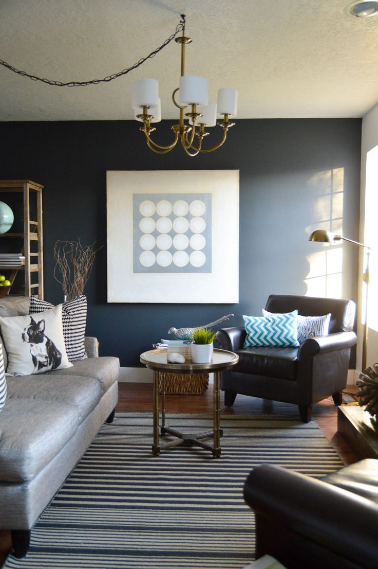 Balencia dark brown leather 5 pc living room leather living rooms - 4 Living Room Makeover Vintage Revivals 9