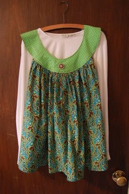 This material is horrible!  BUT I see a potential.  The back is a peek a boo style and even with a V-neck it could be really cute.  I see it in a cute yellow floral.