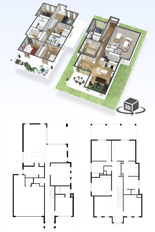 4 Bedroom House Floor Plan In Interactive 3d Get Your Own 3d Model Today At Http Planto3d Com