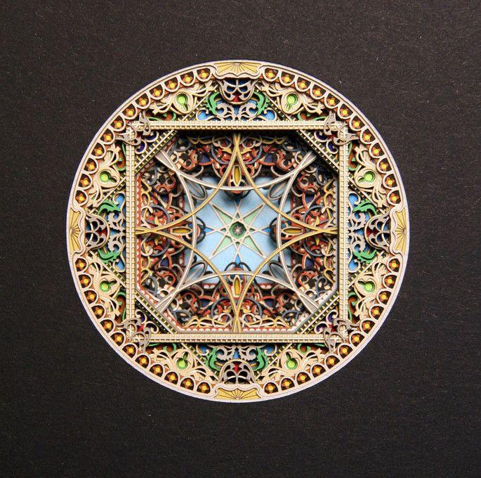 Best Laser Cut Paper Art Images On Pinterest Mandalas Crafts - Beautiful laser cut paper art eric standley