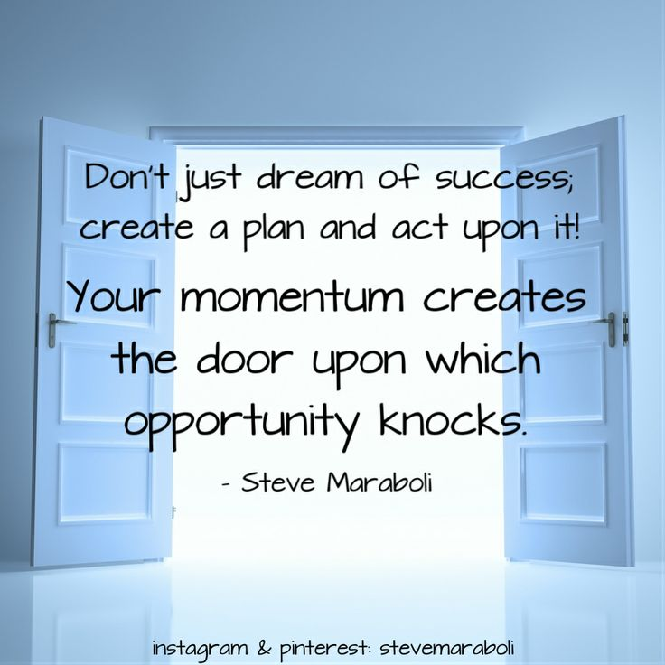 Opportunity knocks on a door only once