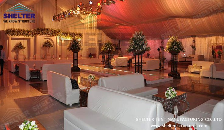 Wedding marquees for sale should be stable and big enough to accommodate guests, a marquee sized 30*30M would have the ability to hold most weddings with about 500 to 600 participants, and the shape of the marquee can be changed according to sites and surroundings.